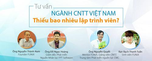 FUNiX tư vấn trực tuyến về ngành công nghệ thông tin Việt Nam