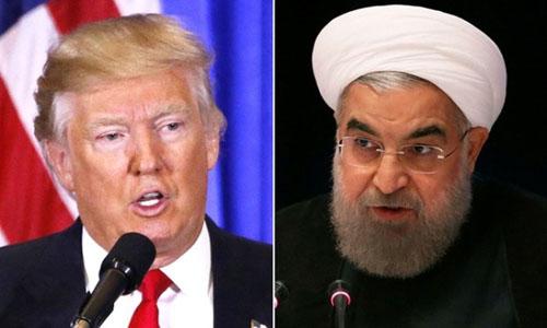 Tổng thống Mỹ Donald Trump (trái) và Tổng thống Iran Hassan Rouhani. Ảnh: BBC.