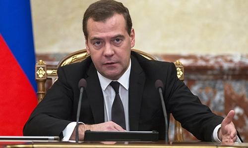 Thủ tướng Nga Dmitry Medvedev. Ảnh:Reuters.