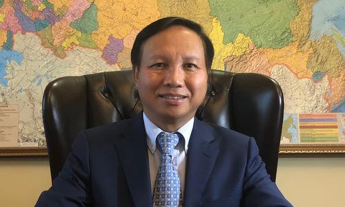 Đại sứ Việt Nam tại Nga Ngô Đức Mạnh. Ảnh: Bộ Ngoại giao.
