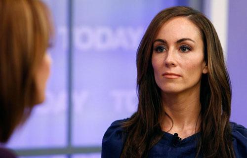 Amanda trong buổi trả lời phỏng vấn với Sun được phát sóng hôm 7/8. Ảnh: Sun.