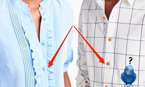 Tại sao cúc áo đàn ông bên phải, phụ nữ bên trái?