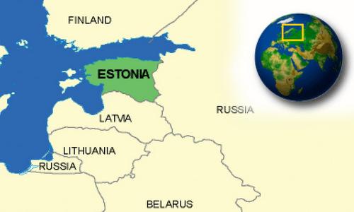 Vị trí của Estonia so với Nga. Đồ họa: Country Reports.