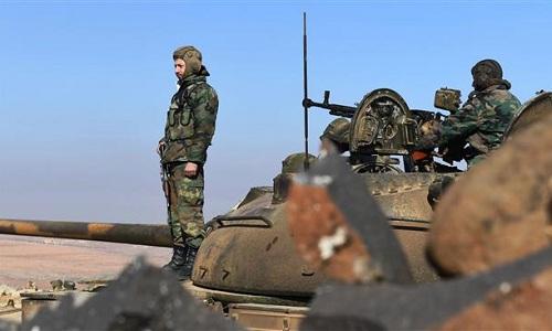 Binh sĩ Syria ở khu vực đông nam tỉnh Idlib. Ảnh: Press TV.