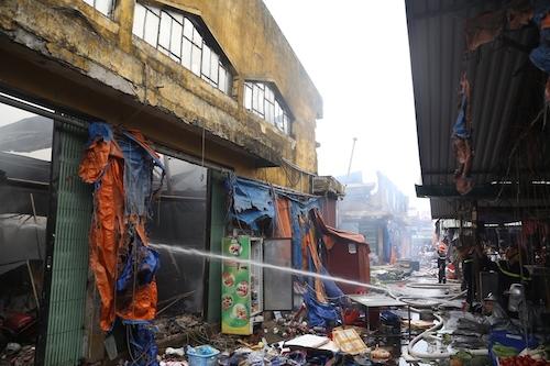 Vụ cháy chợ Sóc Sơn ngày 21/6 gây thiệt hại 47 tỷ đồng. Ảnh: Gia Chính