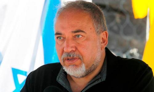 Bộ trưởng Lieberman phát biểu trên cao nguyên Golan hôm 4/8. Ảnh: AFP.