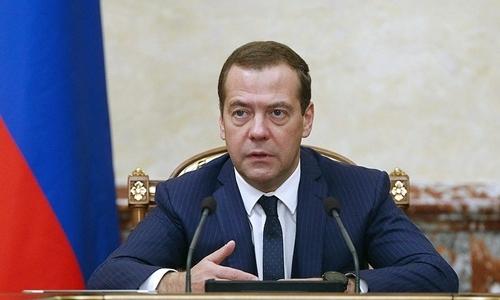 Thủ tướng Nga Dmitry Medvedev. Ảnh: Tass.