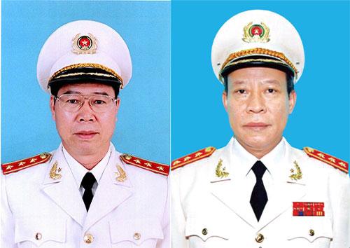 Hai thứ trưởng Bùi Văn Nam và Lê Quý Vương (từ trái qua). Ảnh: Bộ Công an