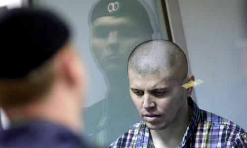 Thành viên Zafardzhon Gulyamov của băng cướp. Ảnh: TASS.