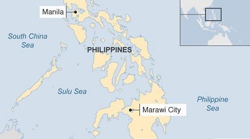 Vị trí Biển Sulu. Đồ họa: BBC.