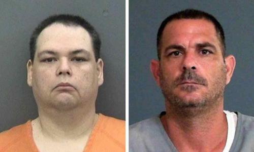 Brian Sebring (trái) và Alex Stephens, hai người đàn ông công kích nhau trên Facebook. Ảnh: Tampa Police Department/Florida Department of Corrections.