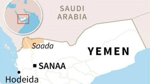Tỉnh Saada, tây bắc Yemen thuộc quyền kiểm soát của lực lượng Houthi từ năm 2014. Đồ họa: AFP.