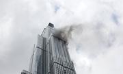 Khói bốc nghi ngút ở toà nhà cao nhất Việt Nam