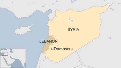 Vị trí thủ đô Damascus của Syria. Đồ họa:BBC.