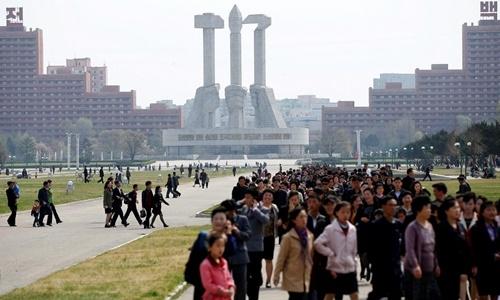 Đài tưởng niệm Thành lập đảng Lao động Triều Tiên. Ảnh: Reuters.
