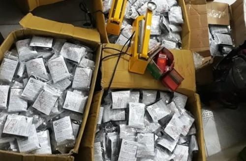 2125 túi ninonđựng các viên hoàn được chủ cơ sở Bà Đại ở Hải Phòngkhai là thuốc đông y dùng để chữa nhiều bệnh, trong đó chủ yếu chữa bệnh tiểu đường. Ả: CTV