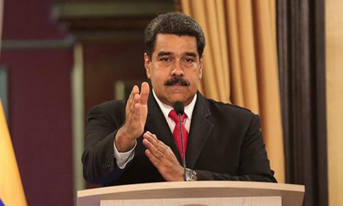 Tổng thống Venezuela Nicolas Maduro phát biểu trong cuộc họp với quan chức chính phủ ở Dinh Miraflores tại thủ đô Caracas hôm 4/8. Ảnh: Reuters.