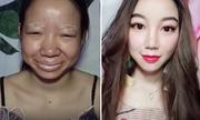 Cô gái Trung Quốc gây sốt với video 'biến hình' bằng trang điểm