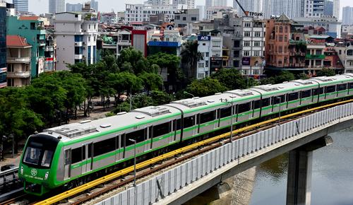 Đường sắt Cát Linh - Hà Đông chạy thử từ ngày 9/8. Ảnh: Giang Huy