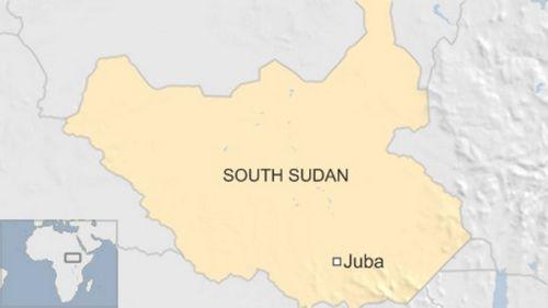 Vị trí Nam Sudan. Đồ họa: BBC.