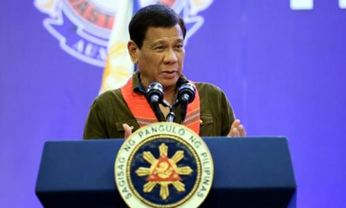 Tổng thống Philippines Rodrigo Duterte. Ảnh: Rappler.