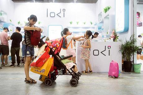 Bên trong một hội chợ Mẹ và Bé ở Thượng Hải tháng 7/2018. Ảnh: NYTimes.