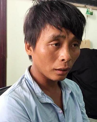 Nguyễn Đăng Khoa tại cơ quan điều tra. Ảnh: An Nam.