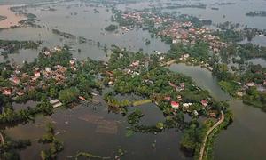 Chương Mỹ có thể tái diễn ngập lụt do ảnh hưởng bão Bebinca