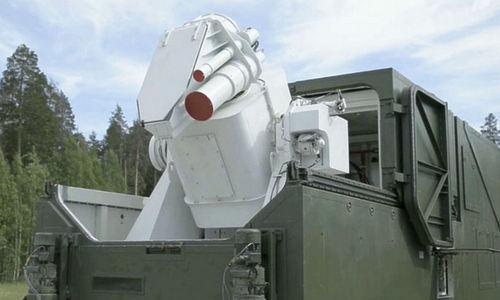 Tổ hợp laser Peresvet được Nga ra mắt hồi tháng 3. Ảnh: TASS.