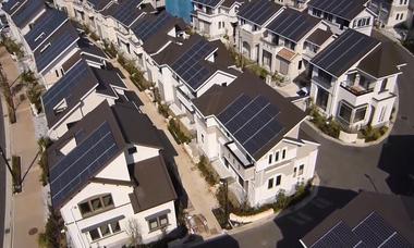 Những căn nhà trong khu đô thị sinh thái thông minh ở Nhật Bản