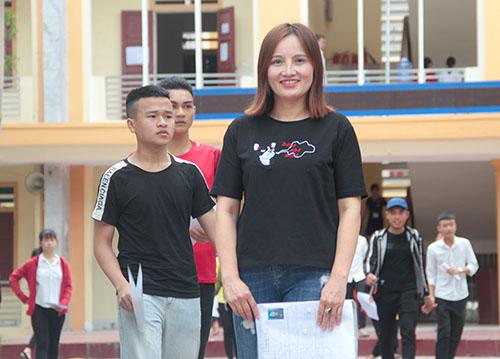 Chị Minh thời điểm thi THPT quốc gia. Ảnh: Đức Hùng
