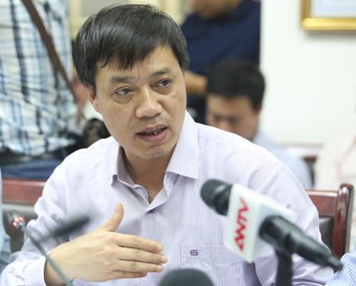 Giám đốc Trung tâm dự báo khí tượng thuỷ văn Quốc gia Hoàng Xuân Cường. Ảnh: Ngọc Thành.