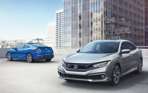 Honda Civic sedan bản nâng cấp đời 2019 ra mắt tại Mỹ. Ảnh: Carscoops.