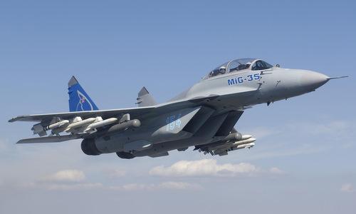 Tiêm kích MiG-35 trong quá trình thử nghiệm. Ảnh:MiG.