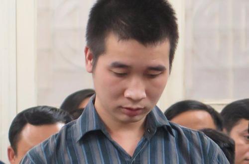 Bị cáo Trung tại phiên tòa sơ thẩm.