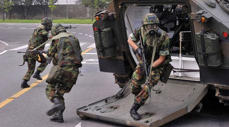 Binh sĩ Hàn Quốc trong một cuộc diễn tập chung với Mỹ. Ảnh: Reuters.