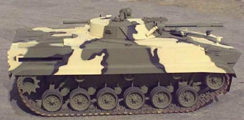 Một xe BMP-S được hoán cải từ xe tăng M60A3. Ảnh: Defense Blog.