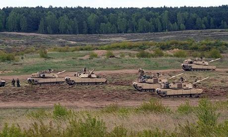 Xe tăng Abrams của Mỹ trong một cuộc diễn tập tại Ba Lan. Ảnh: AFP.