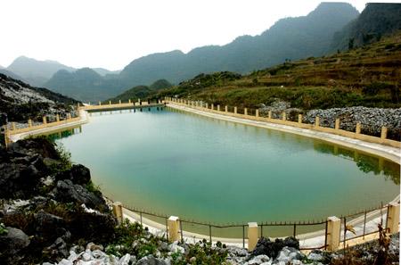 Hồ nước sạch tại xã Sính Lủng. Ảnh: báo Hà Giang.