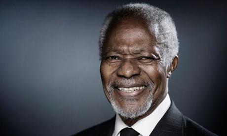 Cố tổng thư ký Liên Hợp Quốc Kofi Annnan. Ảnh: AFP.
