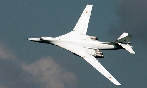 Máy bay ném bom Tupolev Tu-160 Nga. Ảnh: Reuters