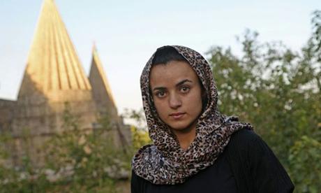 Ashwaq tại khu trại tị nạn dành cho người Yazidi ở miền bắc Iraq hôm 17/8. Ảnh: AFP.