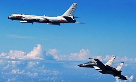 Oanh tạc cơ H-6K Trung Quốc diễn tập gần Đài Loan đầu năm nay. Ảnh: Xinhua.