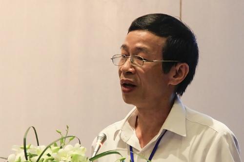 Ông Nguyễn Văn Minh, Hiệu trưởng Đại học Sư phạm Hà Nội phát biểu tại hội thảo. Ảnh: Dương Tâm