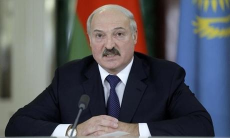Tổng thống Belarus Alexander Lukashenko tại một hội nghị ở Nga tháng 12/2014. Ảnh: Reuters.