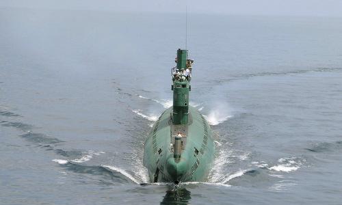 Một tàu ngầm tấn công của hải quân Triều Tiên. Ảnh: Japan Times.