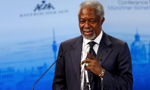 Kofi Annan tại một cuộc họp ở Đức năm 2016. Ảnh:Reuters.