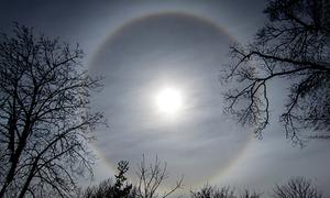 Hào quang tròn xuất hiện trên bầu trời Trung Quốc