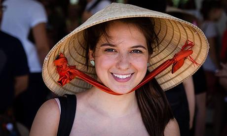 Audrey trong một chuyến thăm Việt Nam. Ảnh: Nhân vật cung cấp