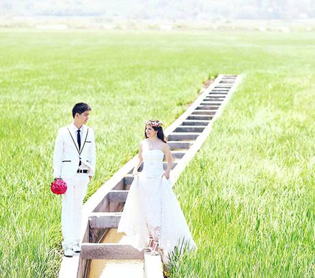 Ảnh cưới của Audrey được chụp ở Việt Nam. Ảnh: Nhân vật cung cấp